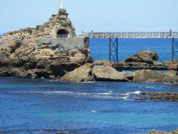 """""""le rocher de la Vierge"""" Biarritz"""