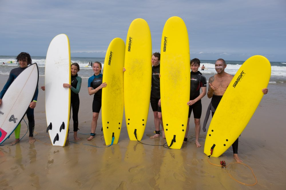 Family surfing fun Moliets