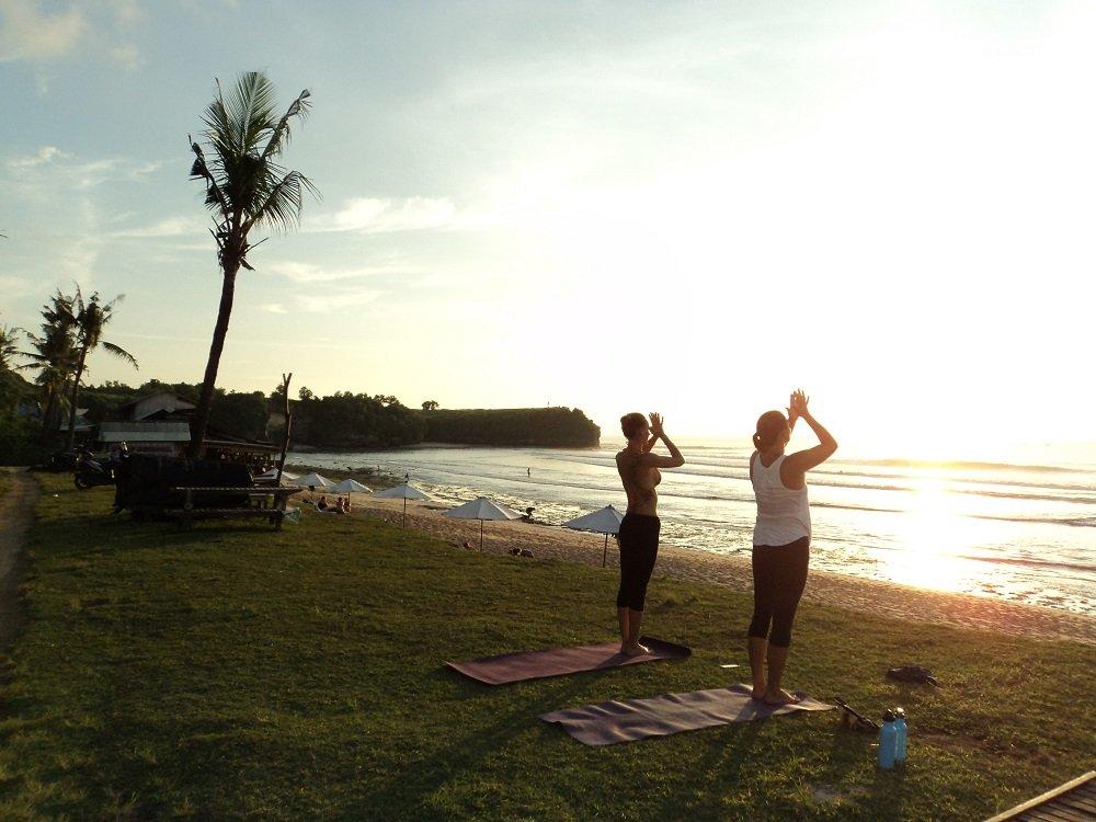 Winter yoga in Bali